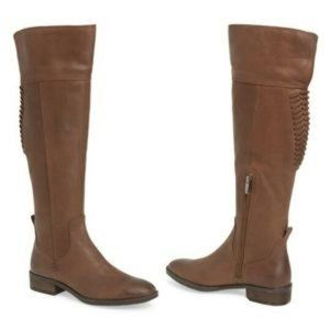Vince Camuto Patamina Dark Brown Riding Boots 7.5